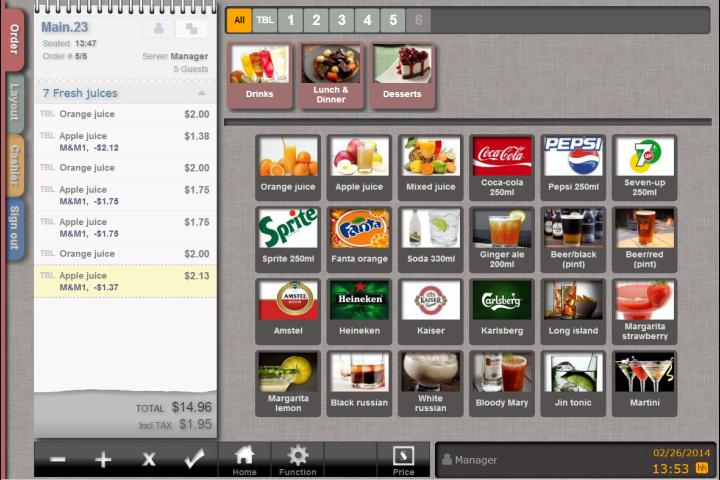 Tabby Producten scherm